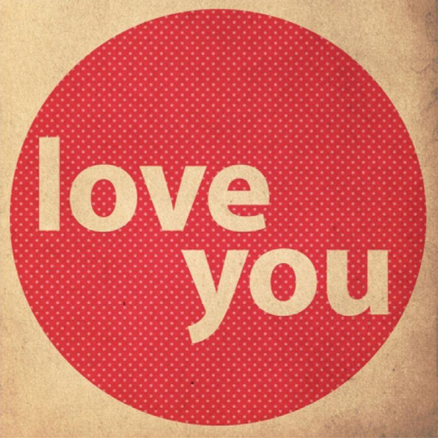 Quadro MDF Love You