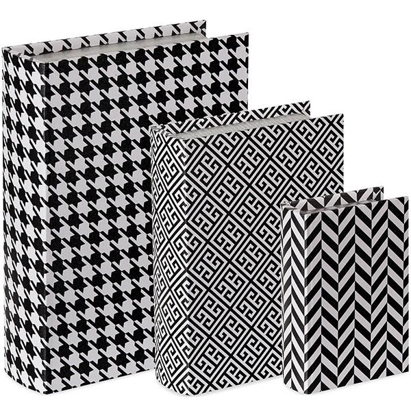 Caixa Livro Black and White