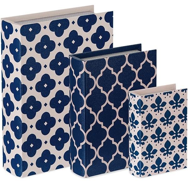 Caixa Livro Blue Flower