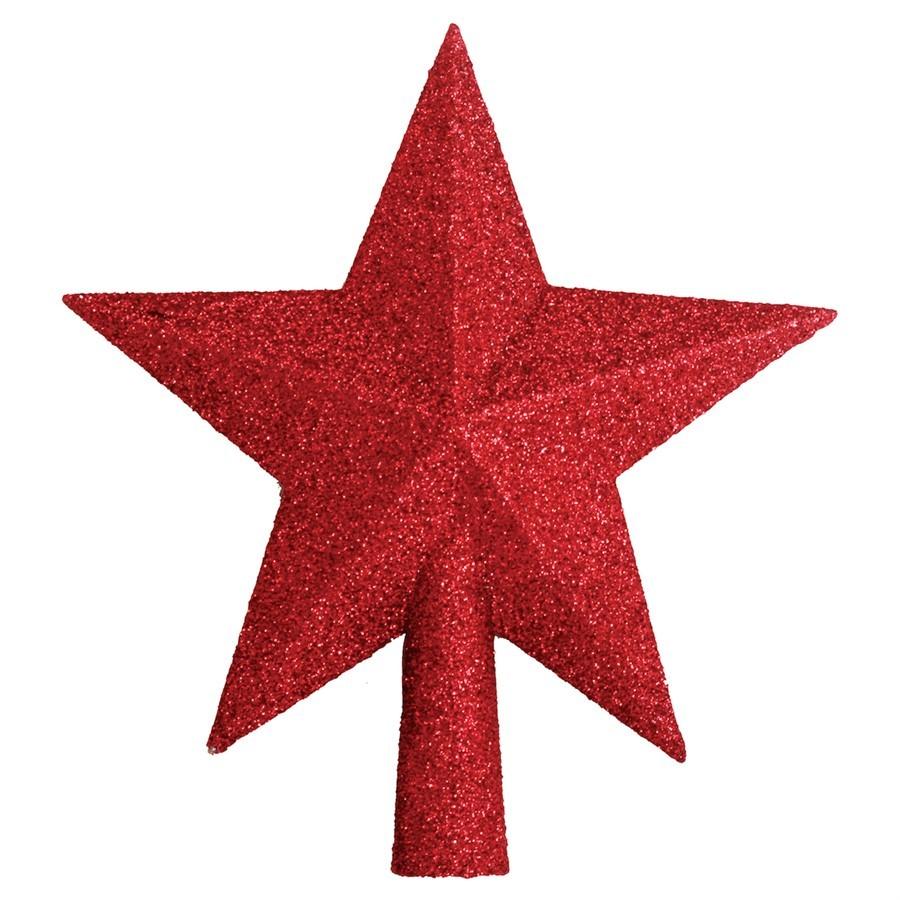 Ponteira Estrela c/ glitter 20cm