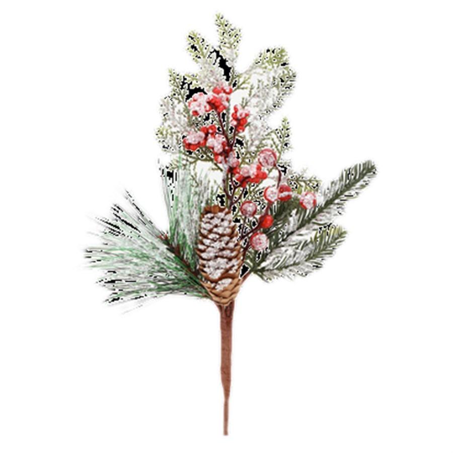 Decor Galho Pinha Berries 38cm
