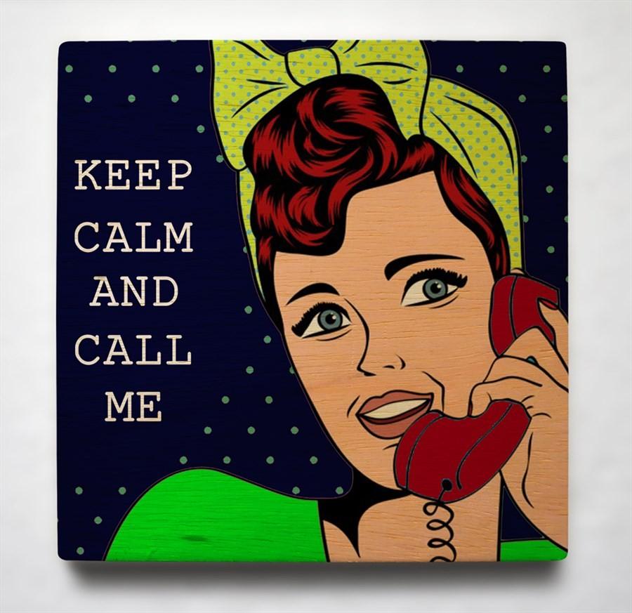 Quadro 19cm x 19cm Keep Calm