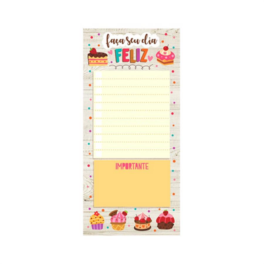 Notepad `Faça seu dia feliz!`