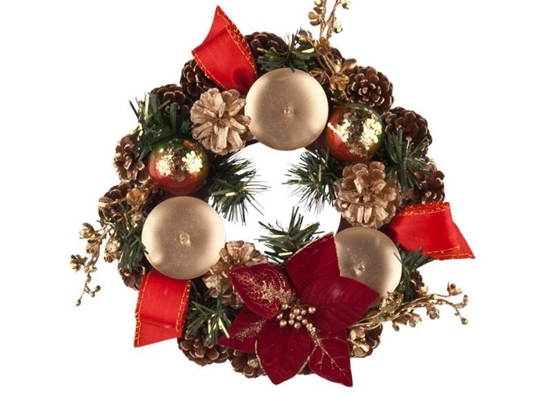 Porta Velas Flores de Natal
