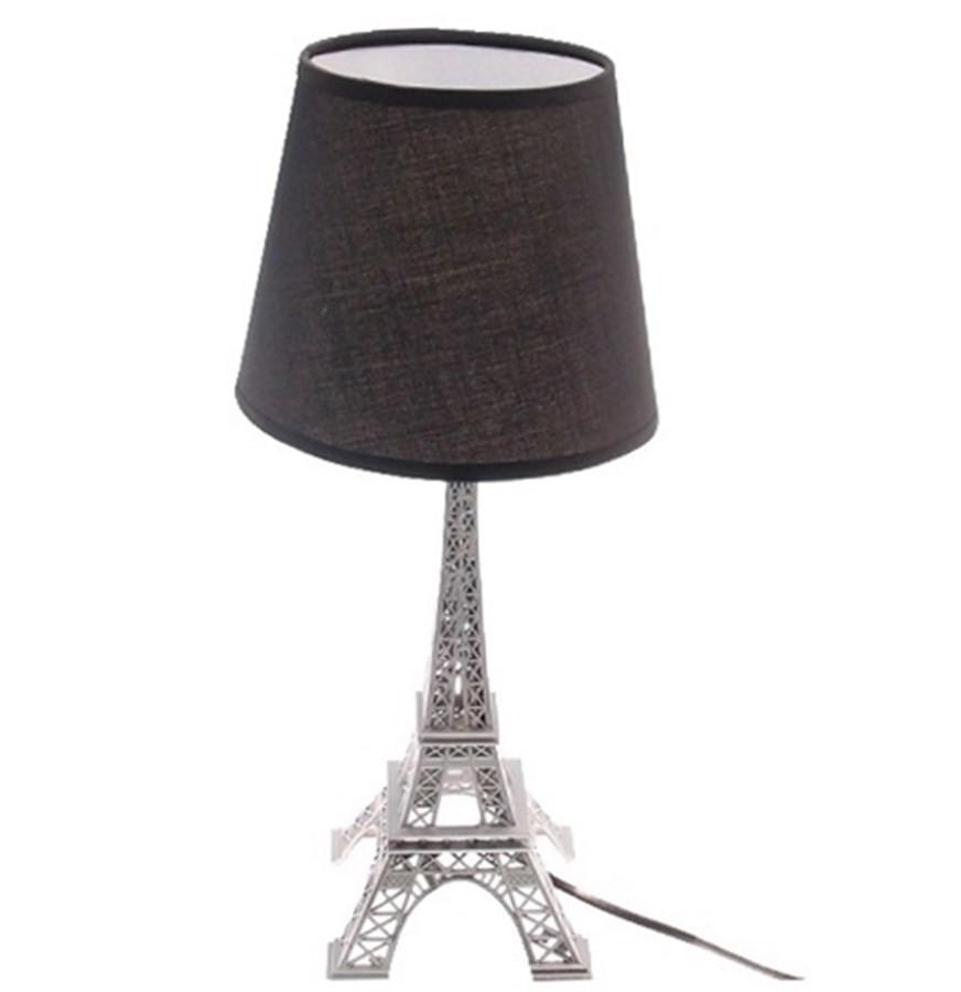 Abajur Torre Eiffel Prata