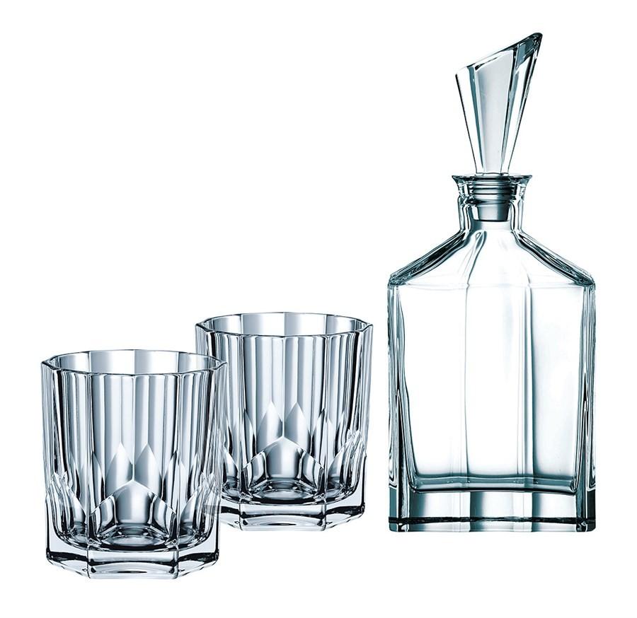 Jogo Whisky Cristalin Nachtmann Noblesse 3 Peças