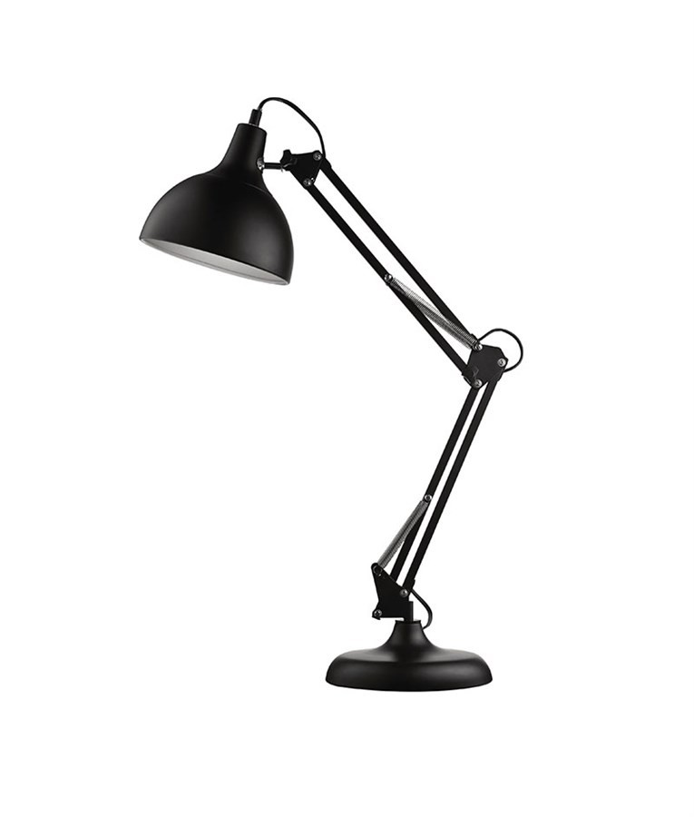 Luminária de Mesa Articulada Preta 72cm
