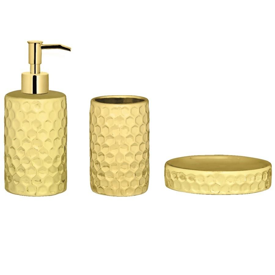 Kit Banheiro Dourado