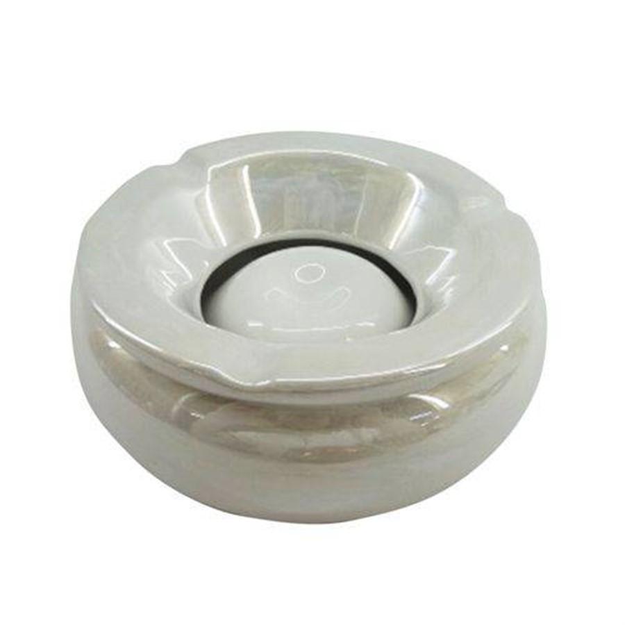 Cinzeiro Cerâmica Elegant Branco