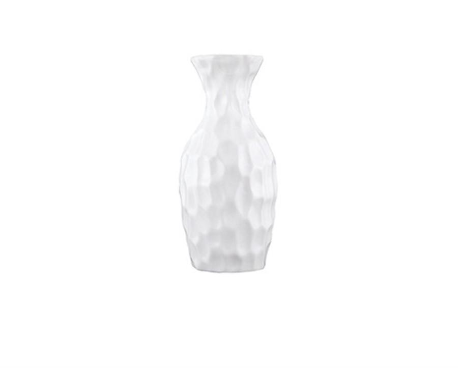 Vaso Branco Cerâmica 12x6CM