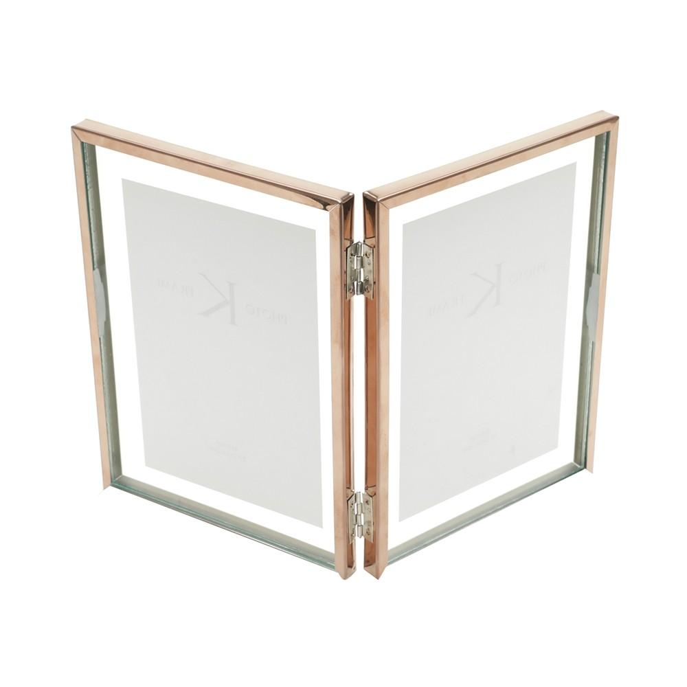 Porta Retrato Duplo Cobre 13x18cm