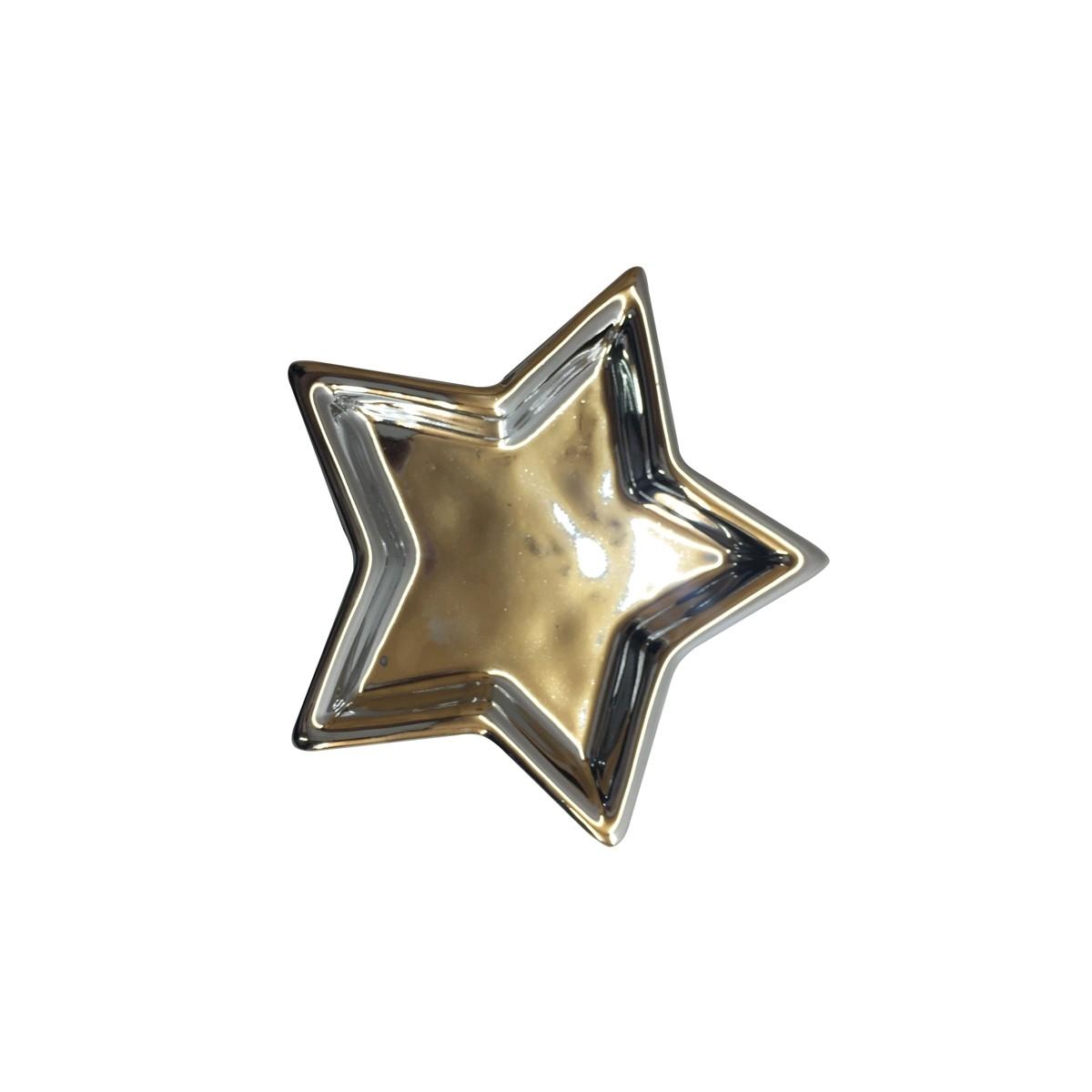 Porta Bijoux Star Silver 9x9cm