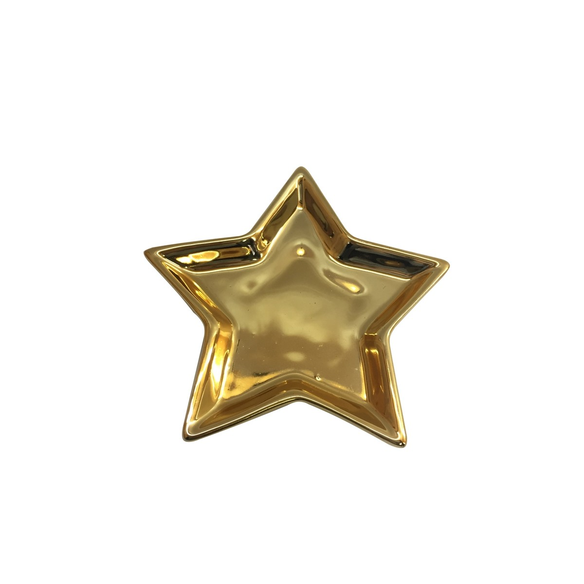 Porta Bijoux Star Gold 9x9cm