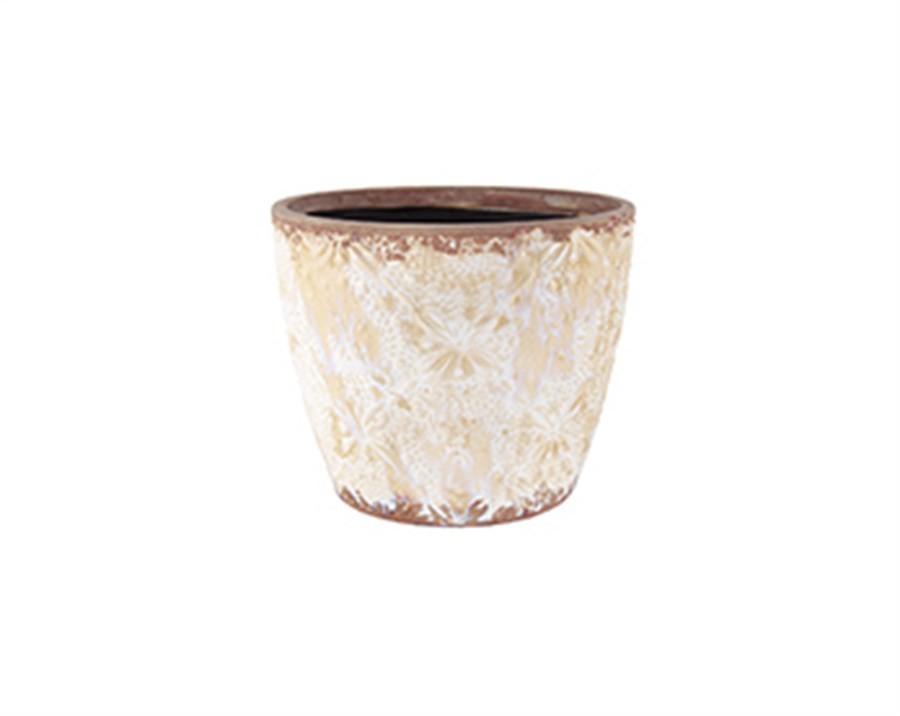 Cachepot Nude em Cerâmica 13X15,5CM