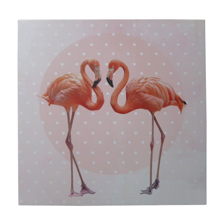 Tela Casal Flamingos
