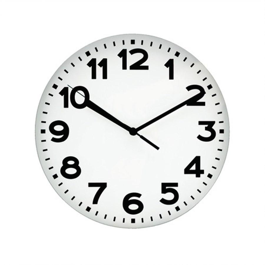 Relógio de Parede Branco 25cm
