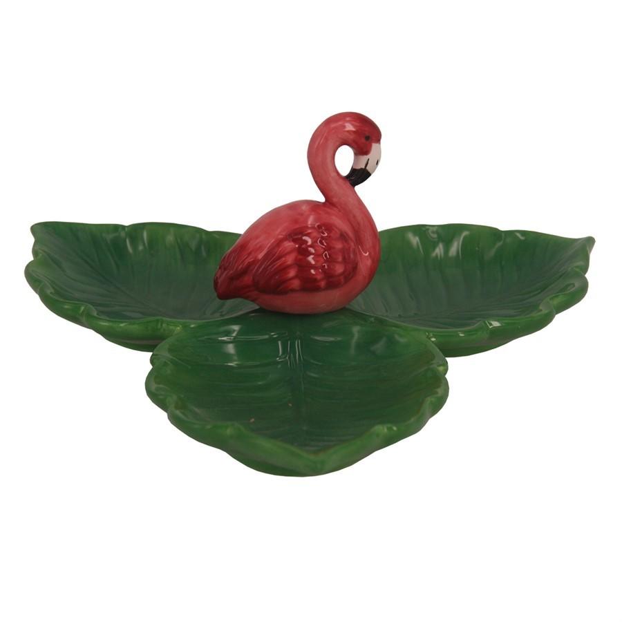 Porta Jóia de Cerâmica  Flamingo