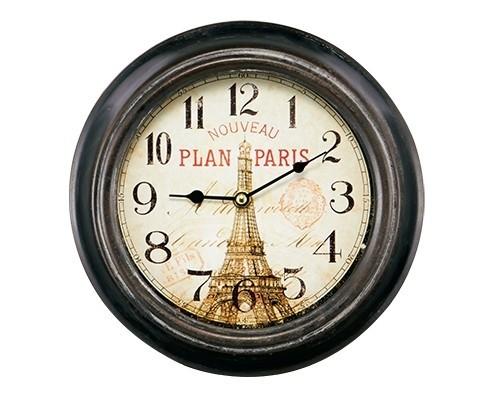 Relógio de Parede Preto Paris