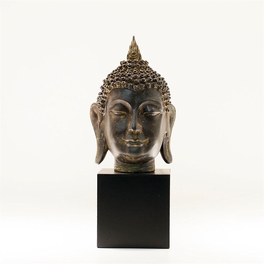 Figura Decorativa Cabeça de Buddha