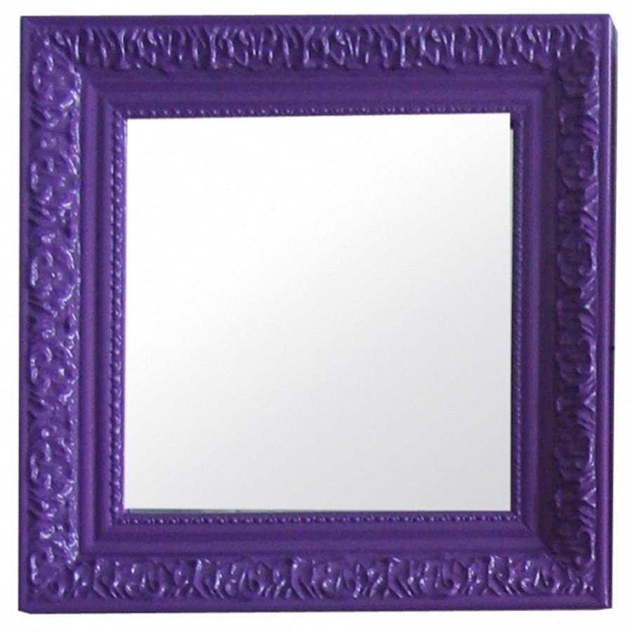 Espelho Em MDF Roxo 30cm