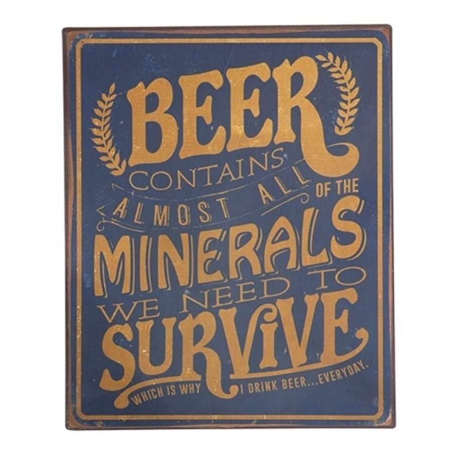Placa Decorativa de Metal Beer