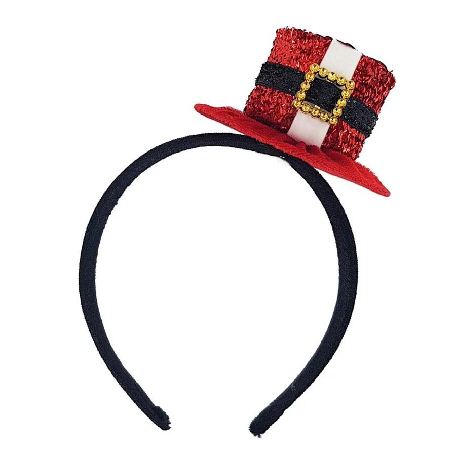 Tiara Decorativa C/Chapéu Noel
