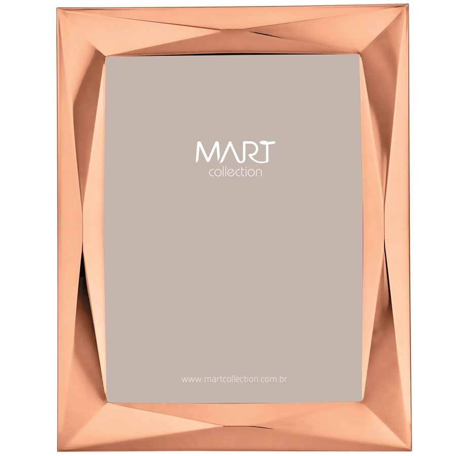 Porta-Retrato Metal Rose Gold V 10x15cm