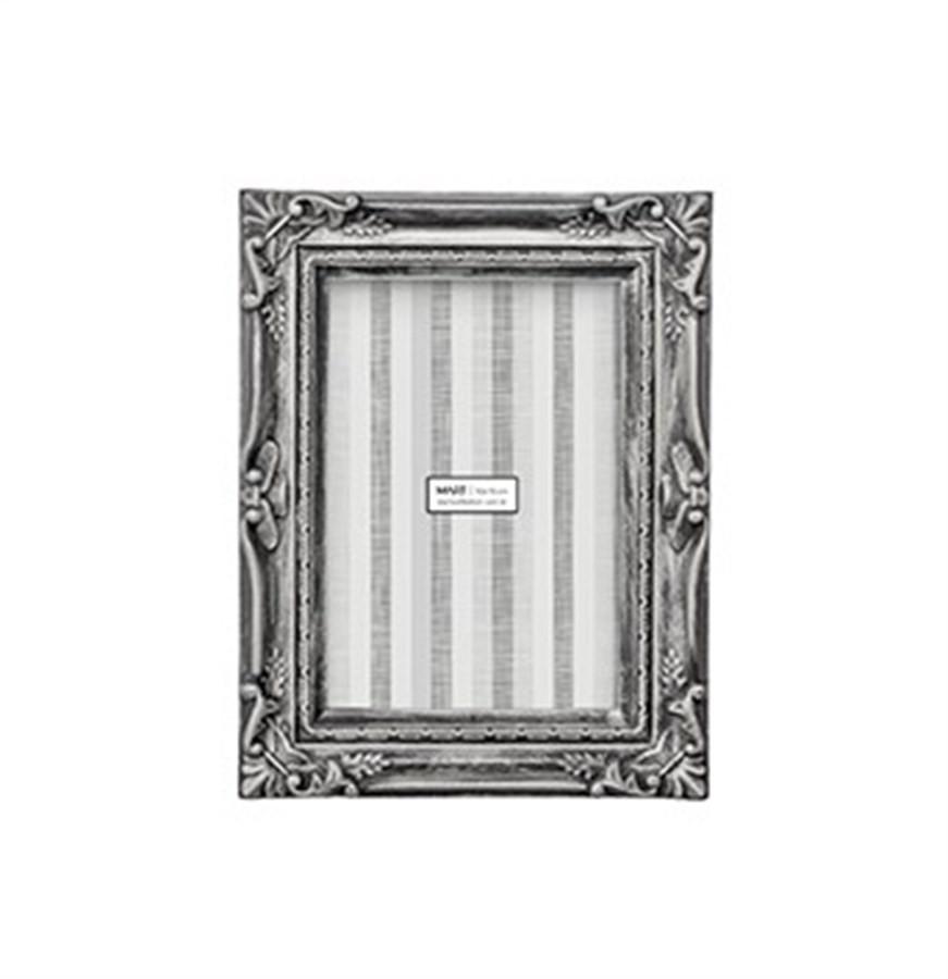 Porta Retrato Prata Envelhecida 10x15cm
