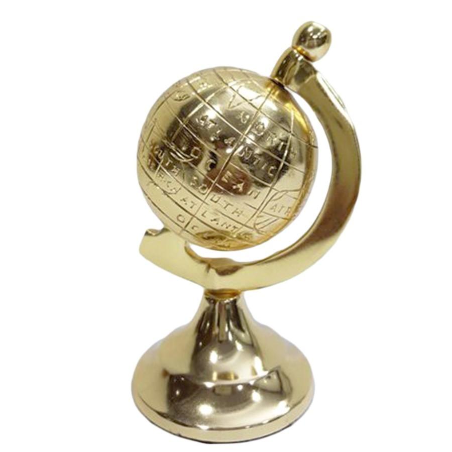 Globo Metal Dourado 13x7cm