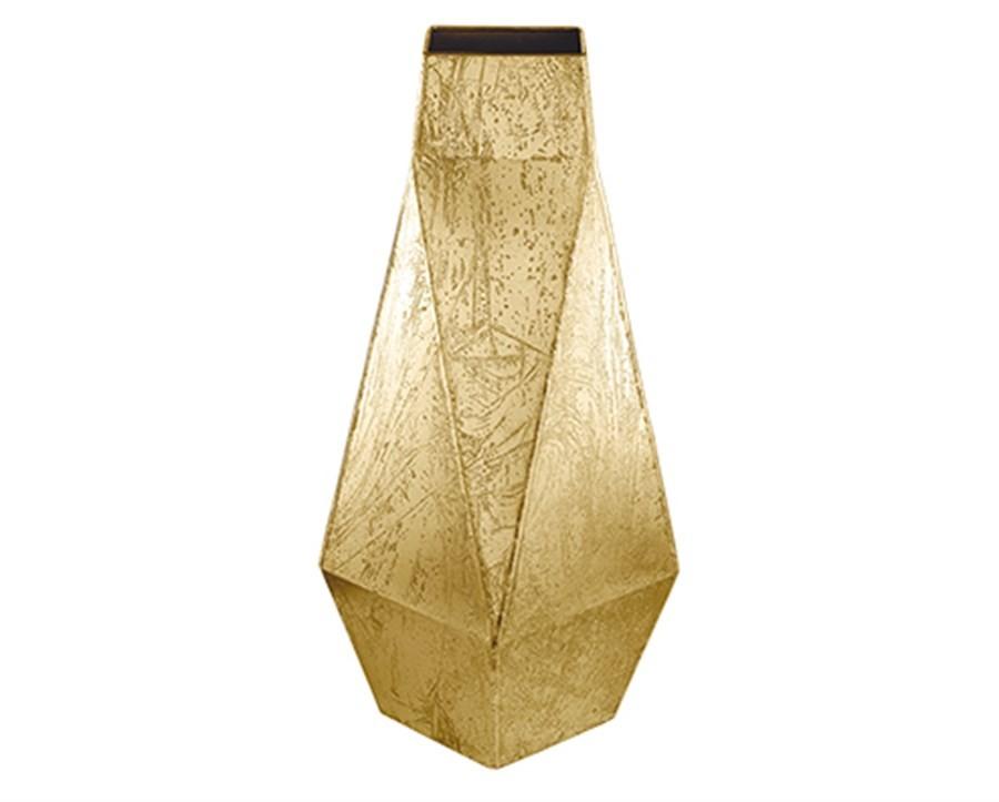 Vaso Dourado em Metal 47cm