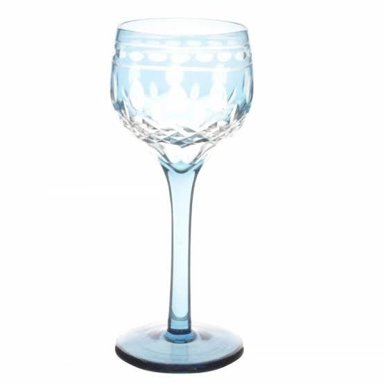 Taça de Cristal Coloridas Para Licor l -  Azul