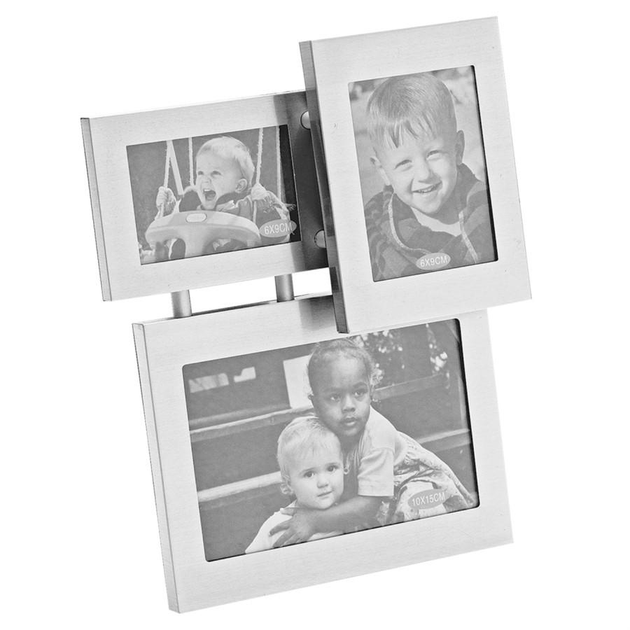 Porta Retrato Aluminium - 3 Fotos