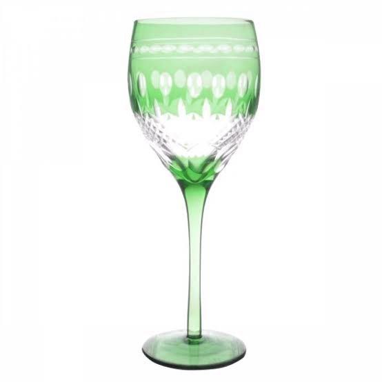 Taça de Cristal Coloridas Para Água - Verde