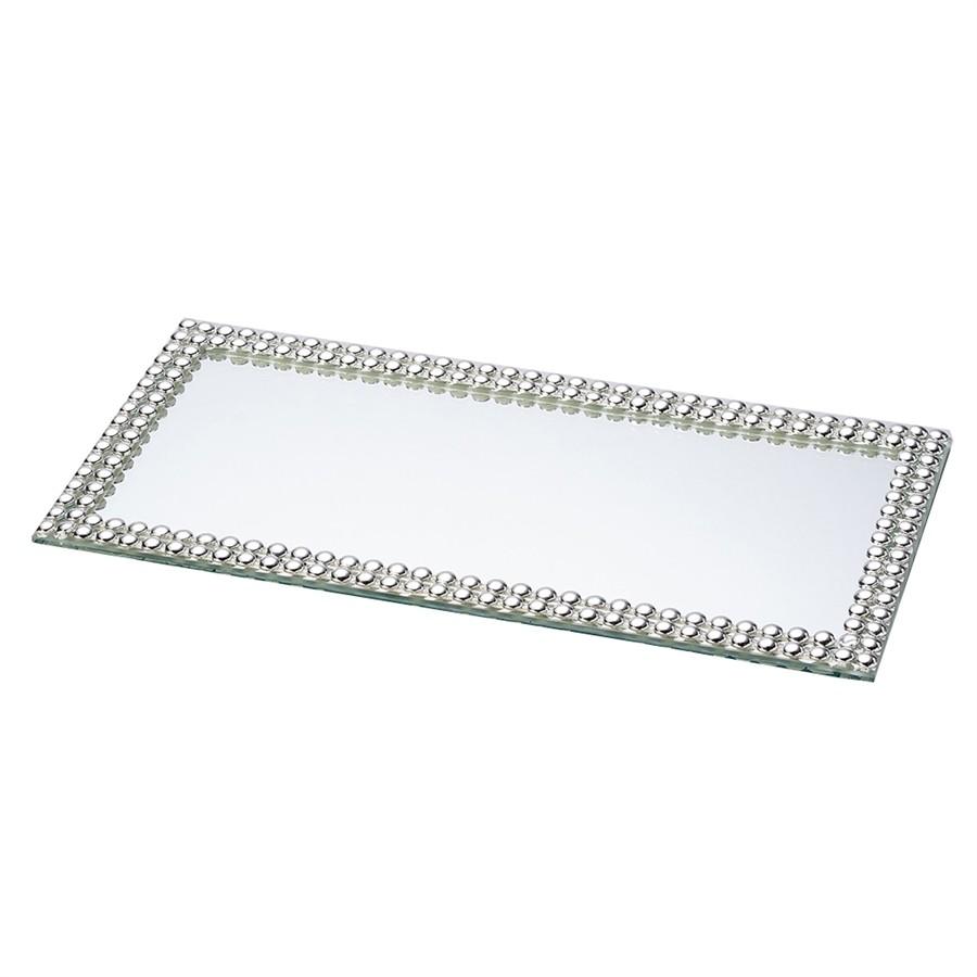 Bandeja Espelhada Multiuso Prata