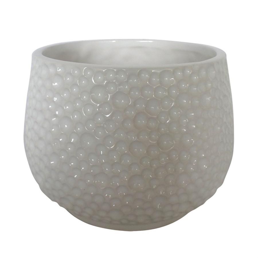 Vaso de Cerâmica Branco 15x15cm