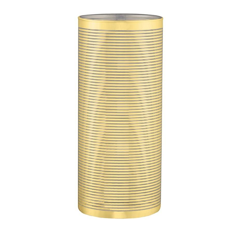 Vaso Dourado em Vidro 23 x 10cm
