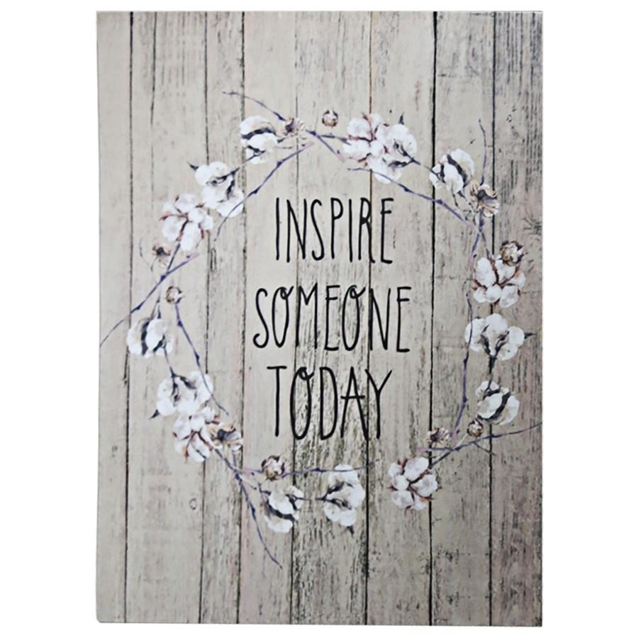 """Tela """"Inspire someone today"""" 40cm x 30cm"""