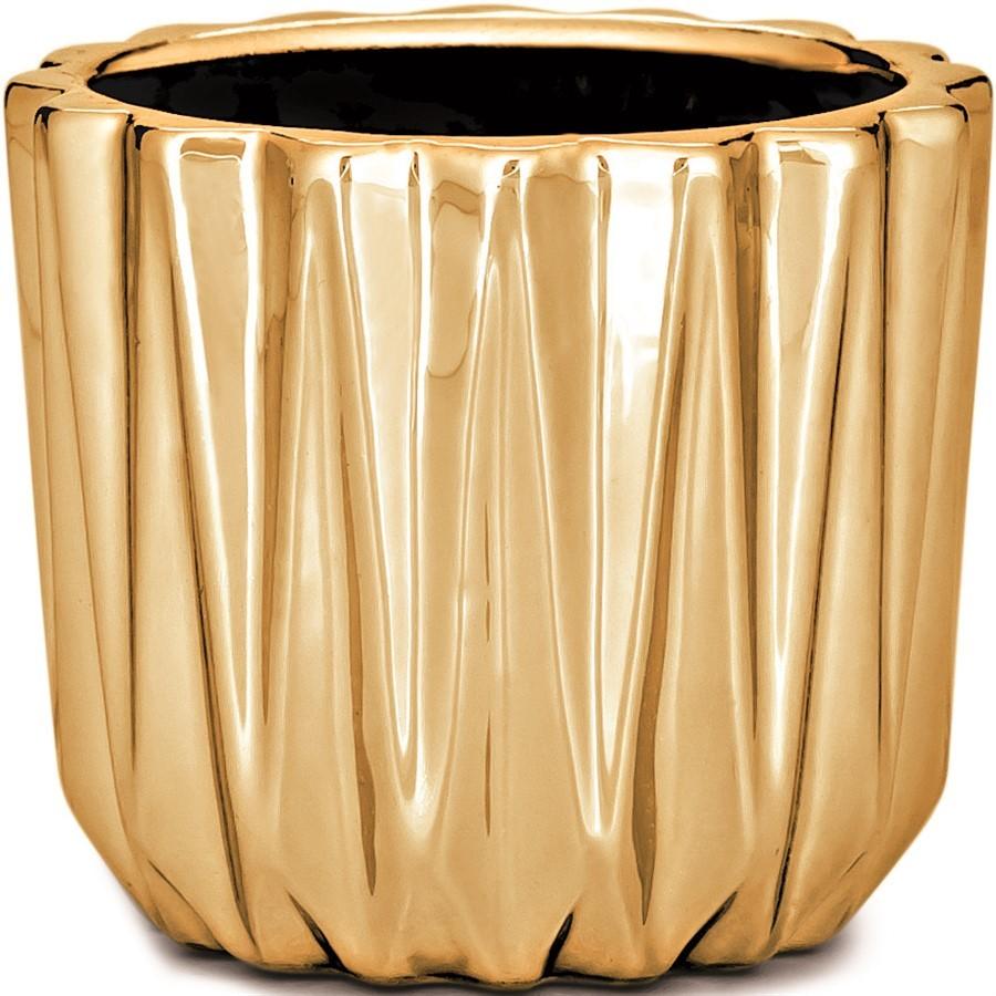 Cachepot Dourado em Cerâmica l 7x8cm