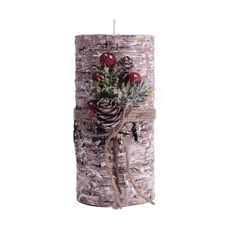 Vela Decorativa Rosa de Natal 8x15cm