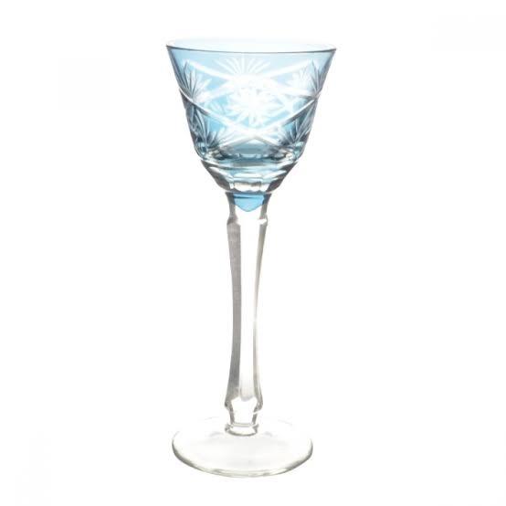 Taça de Cristal Coloridas Para Licor ll -  Azul