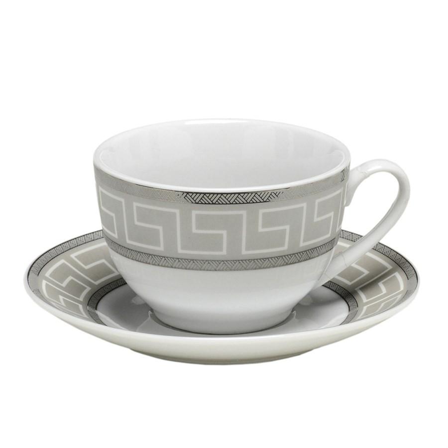 Jogo 6 Xícaras Chá com Pires