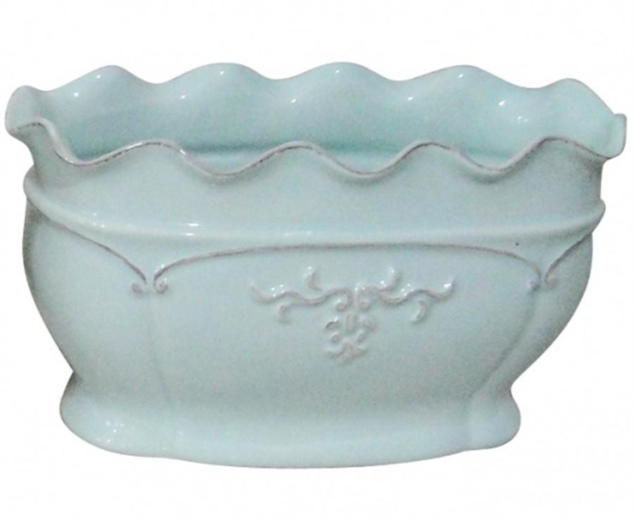 Vaso Delicate Ondule Baixo Azul G