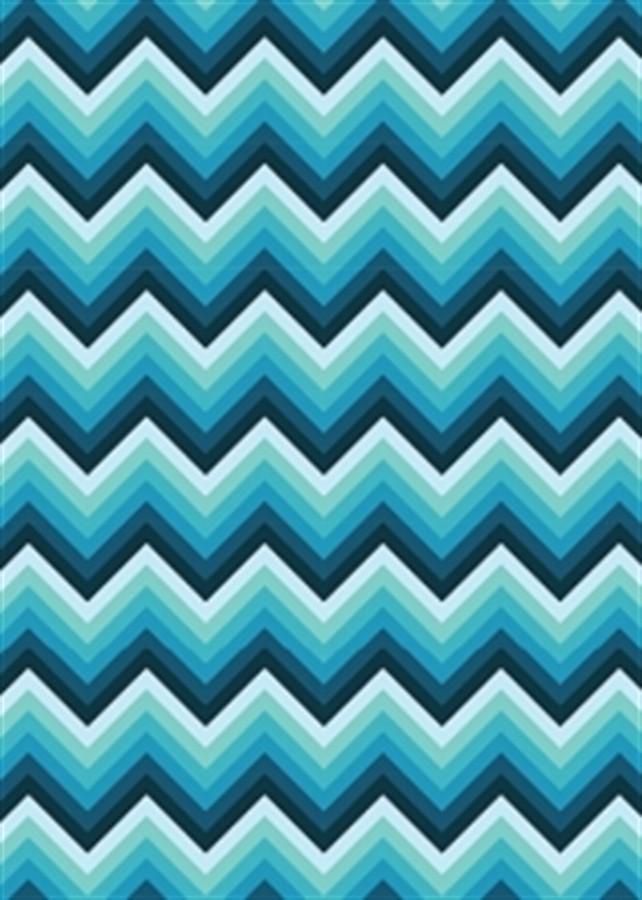 Tecido Adesivo Chevron Azul 1m