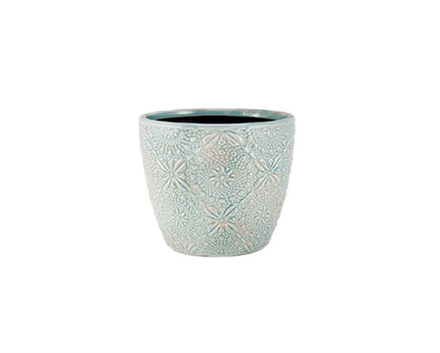 Cachepot  Azul Cerâmica