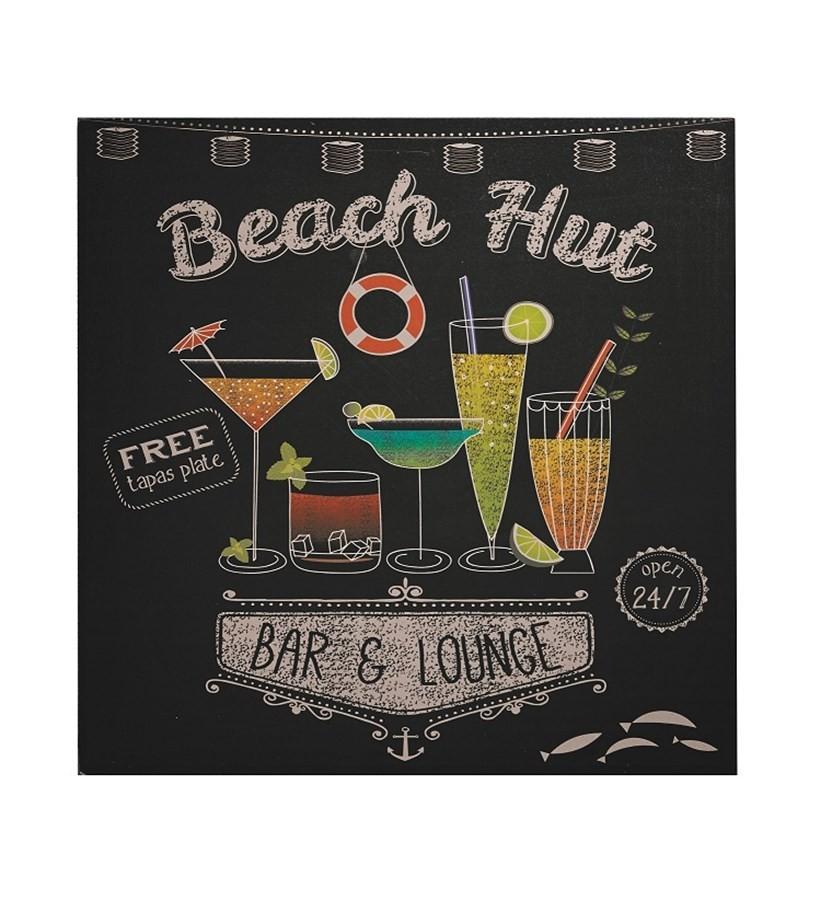 Placa Decorativa Beach Hut