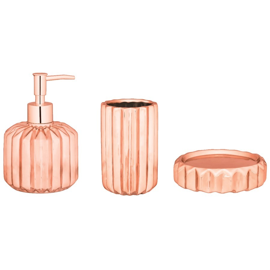 Kit Rose Gold Cerâmica