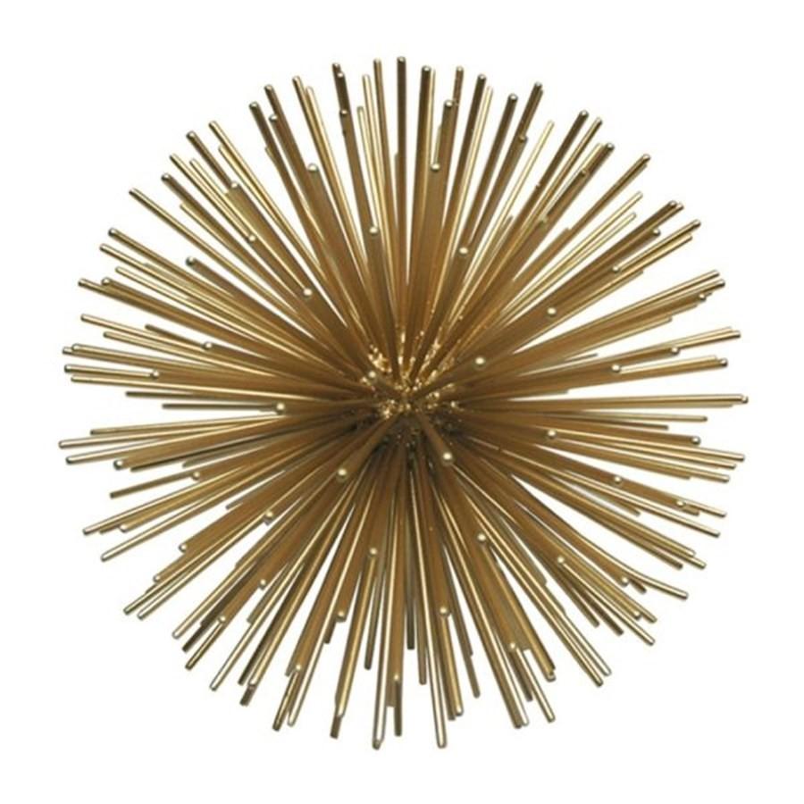 Bola Decorativa em metal Dourada 21cm