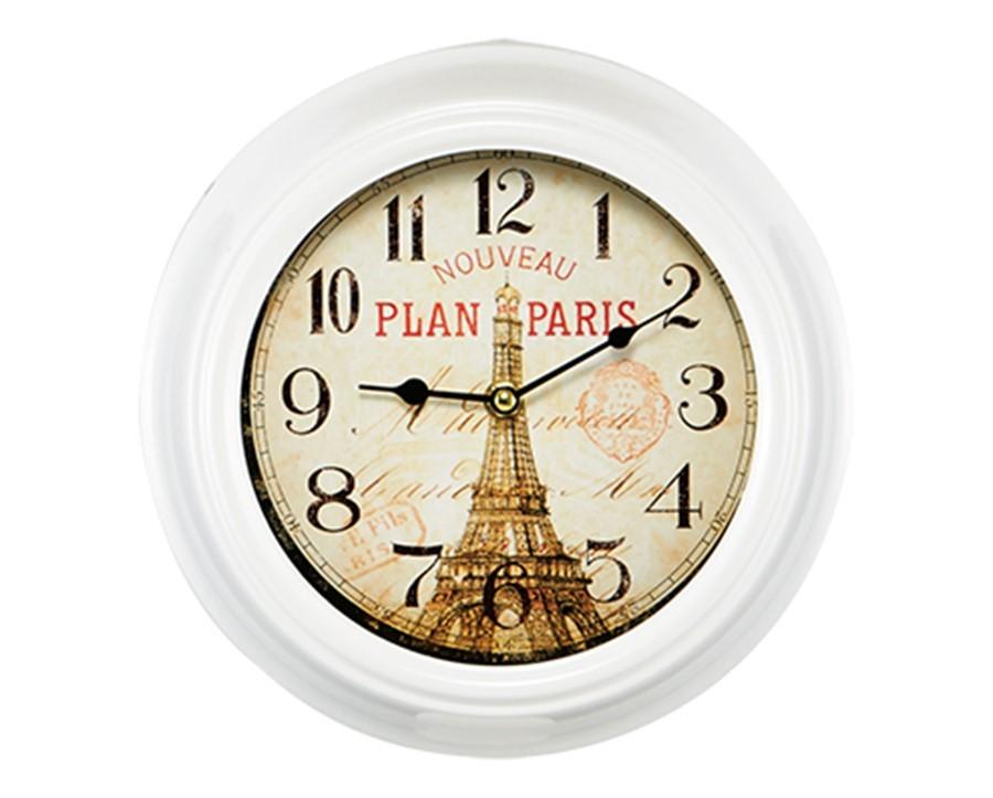 Relógio de Parede Branco Paris