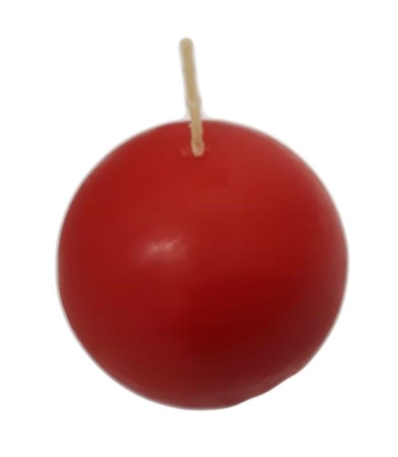 Vela Bola Vermelha 6cm