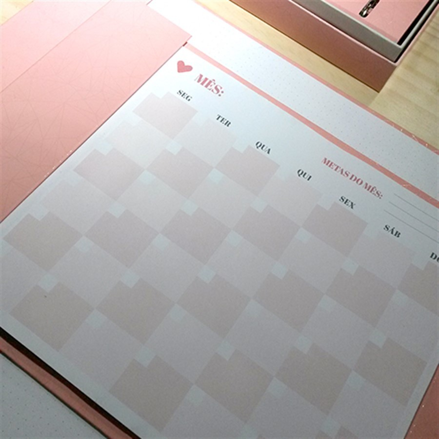Bloco PinkStone Calendário A4